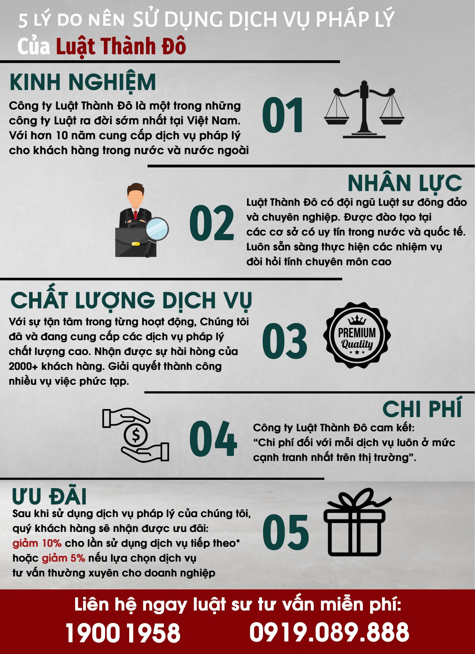 5 lý do nên dử dụng dịch vụ của luật thành đô