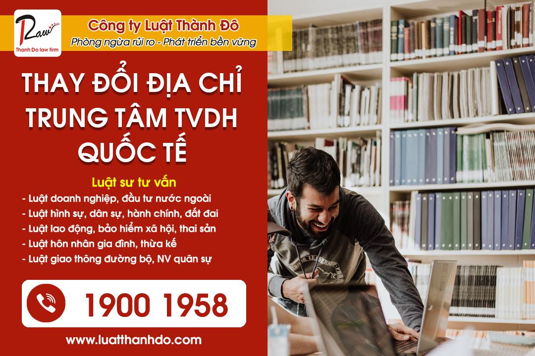 Thay đổi địa chỉ trung tâm tư vấn du học quốc tế