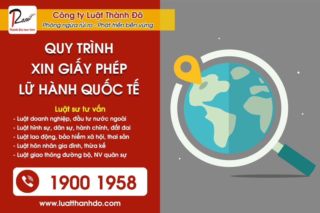 Quy trình xin giấy phép kinh doanh lữ hành quốc tế