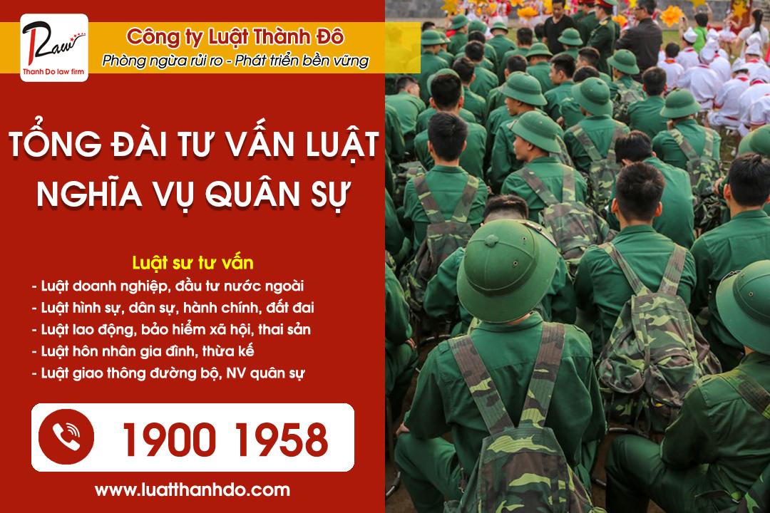 Tư vấn luật nghĩa vụ quân sự qua tổng đài điện thoại