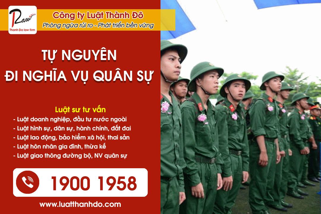 điều kiện đi nghĩa vụ quân sự tự nguyện