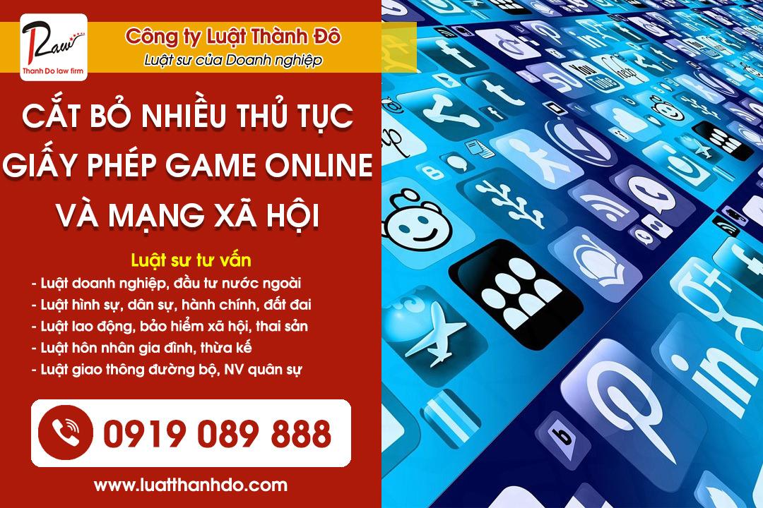 Cắt bỏ nhiều thủ tục cấp phép game online và mạng xã hội