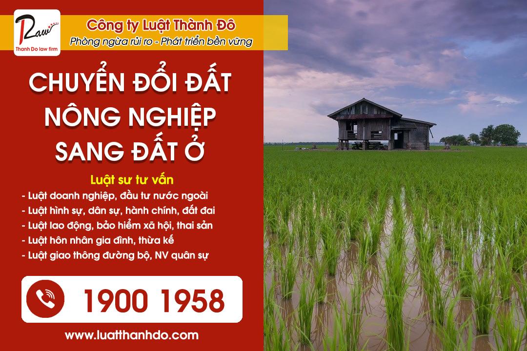 Chuyển đổi đất nông nghiệp sang đất ở để xây nhà