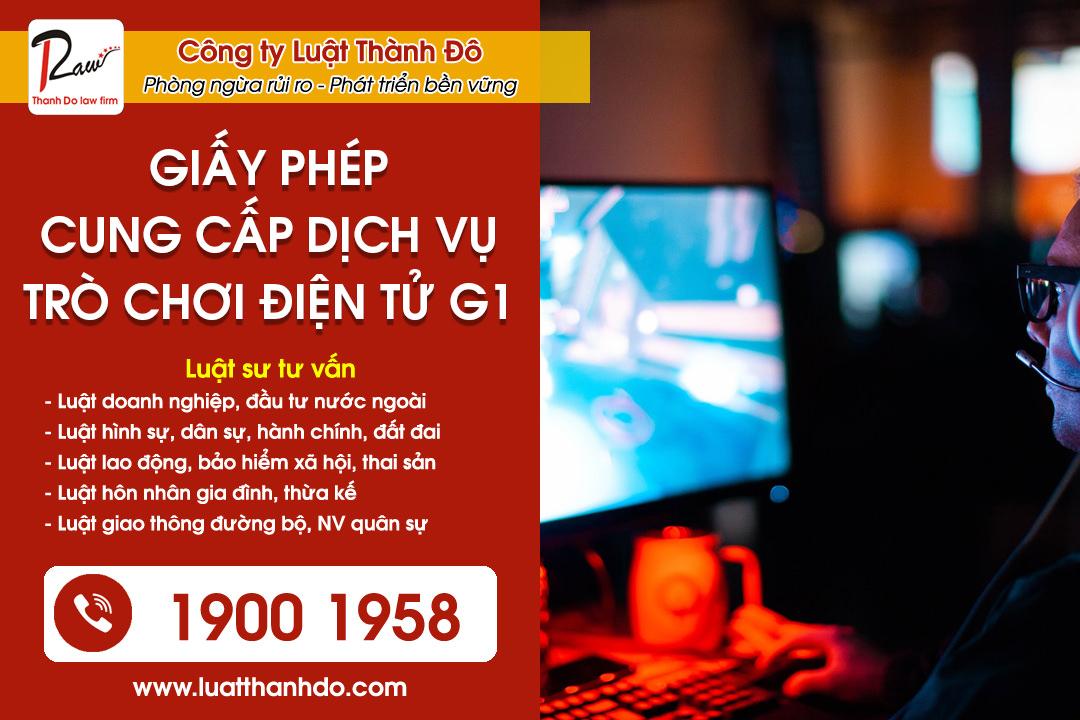 giấy phép cung cấp dịch vụ trò chơi điện tử