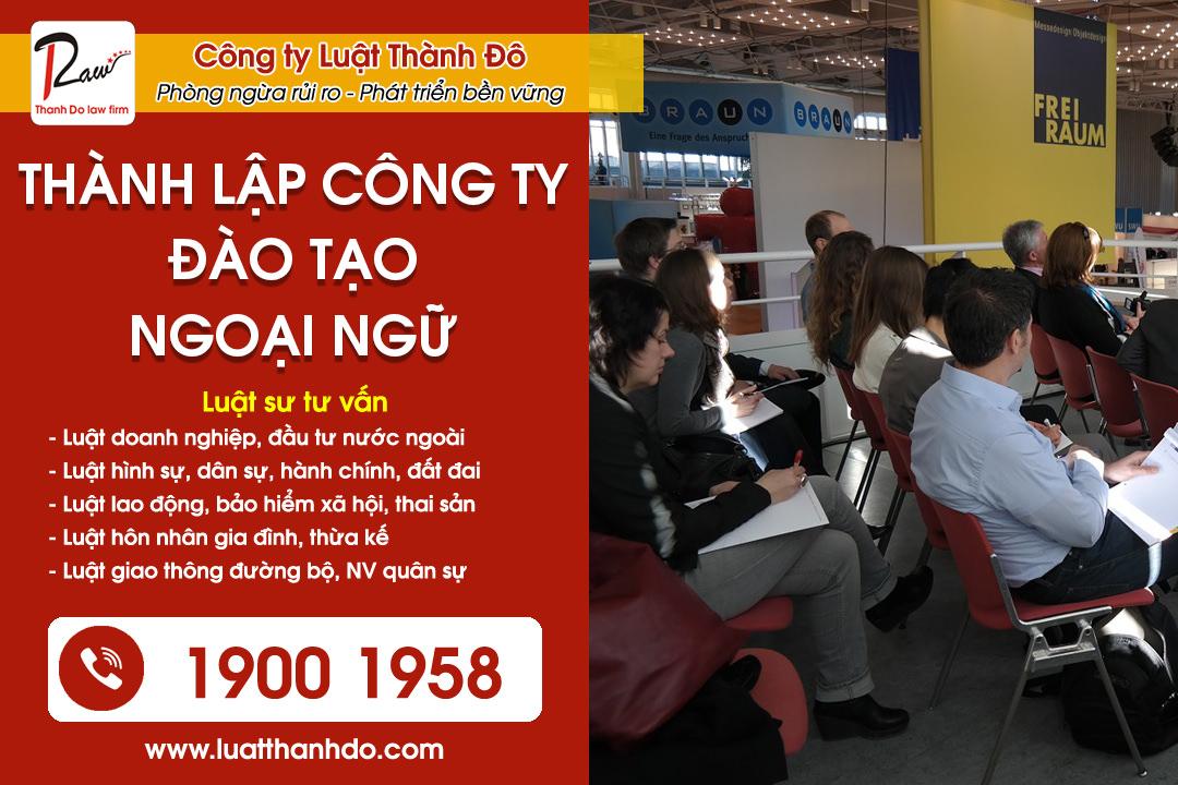 thành lập công ty đào tạo ngoại ngữ