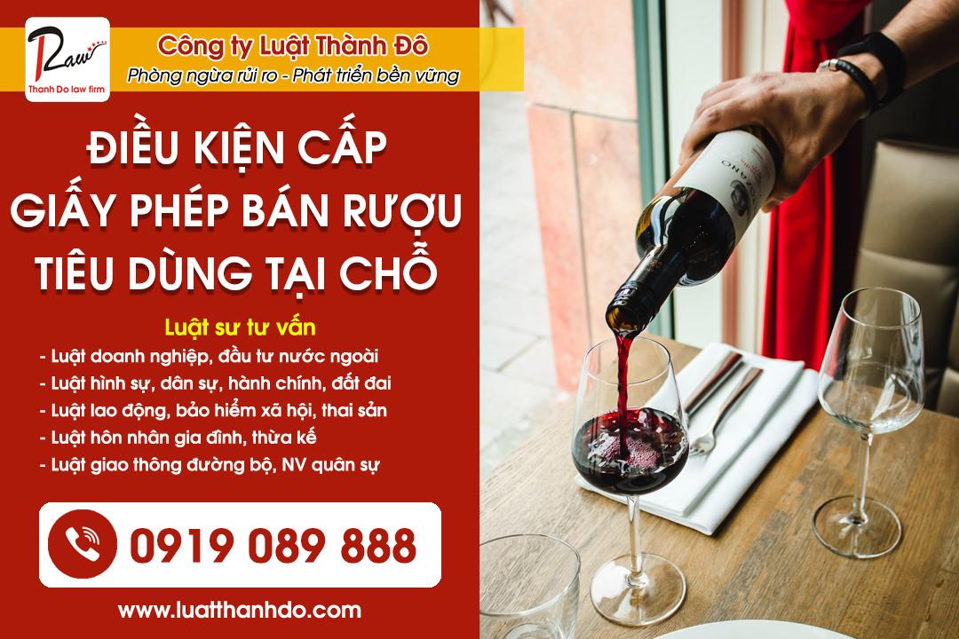 Điều kiện cấp giấy phép bán rượu tiêu dùng tại chỗ 2021