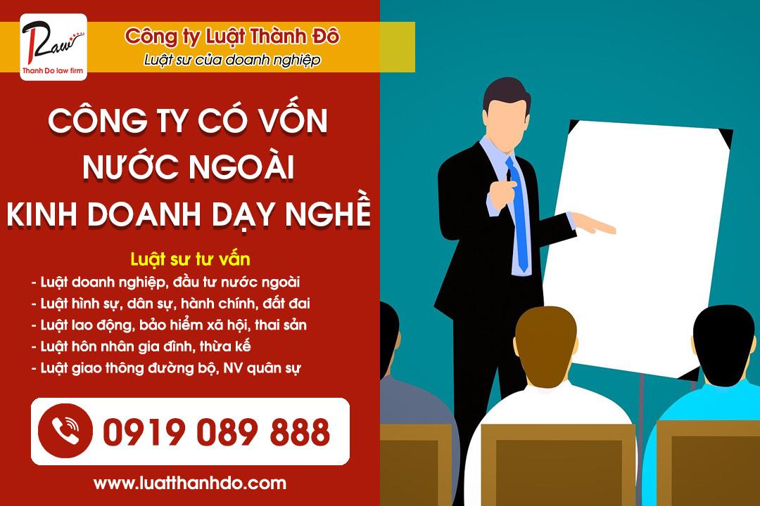 Thành lập công ty có vốn nước ngoài kinh doanh dịch vụ dạy nghề