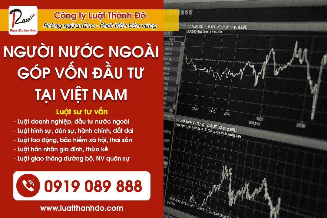 Thủ tục người nước ngoài góp vốn đầu tư tại Việt Nam