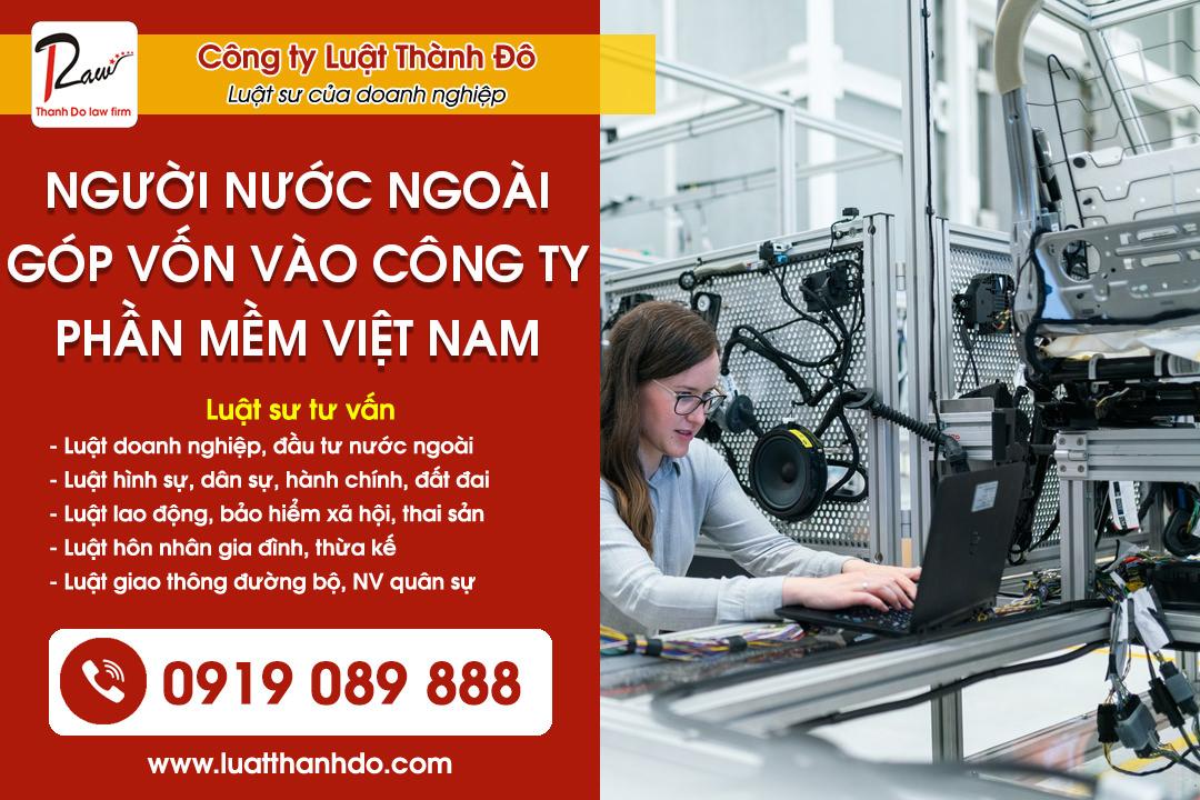người nước ngoài góp vốn vào công ty phần mềm Việt Nam