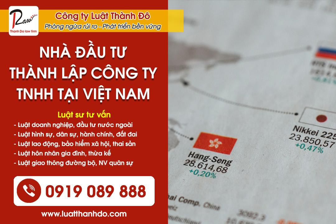Nhà đầu tư nước ngoài thành lập công ty TNHH tại Việt Nam