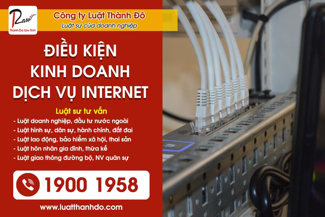 Điều kiện kinh doanh dịch vụ internet