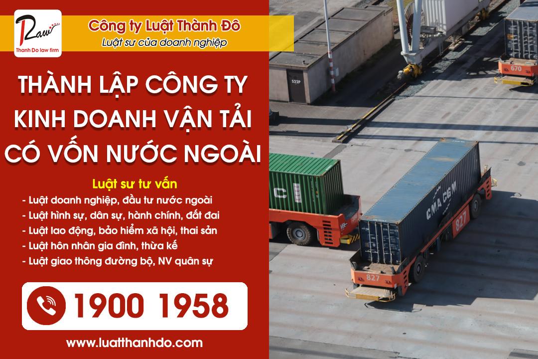 Thành lập công ty kinh doanh vận tải có vốn nước ngoài