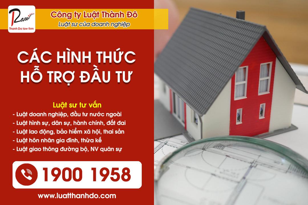 Các hình thức hỗ trợ đầu tư tại Việt Nam