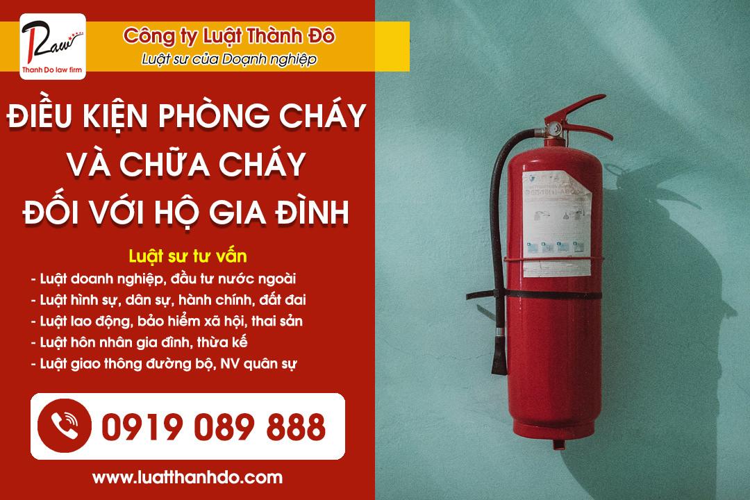 Điều kiện an toàn về phòng cháy và chữa cháy đối với hộ gia đình