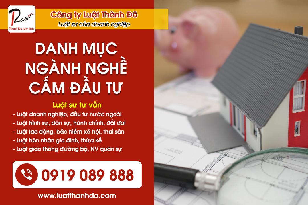 Danh mục ngành nghề cấm đầu tư tại Việt Nam năm 2021