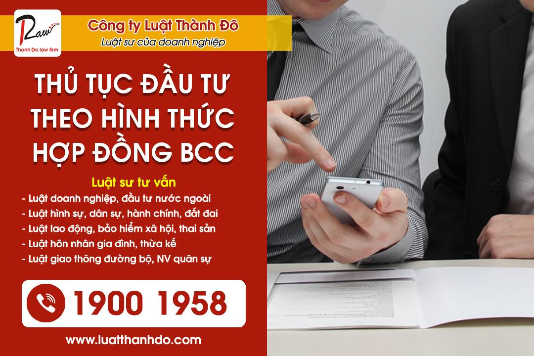 Thủ tục đầu tư theo hình thức hợp đồng BCC