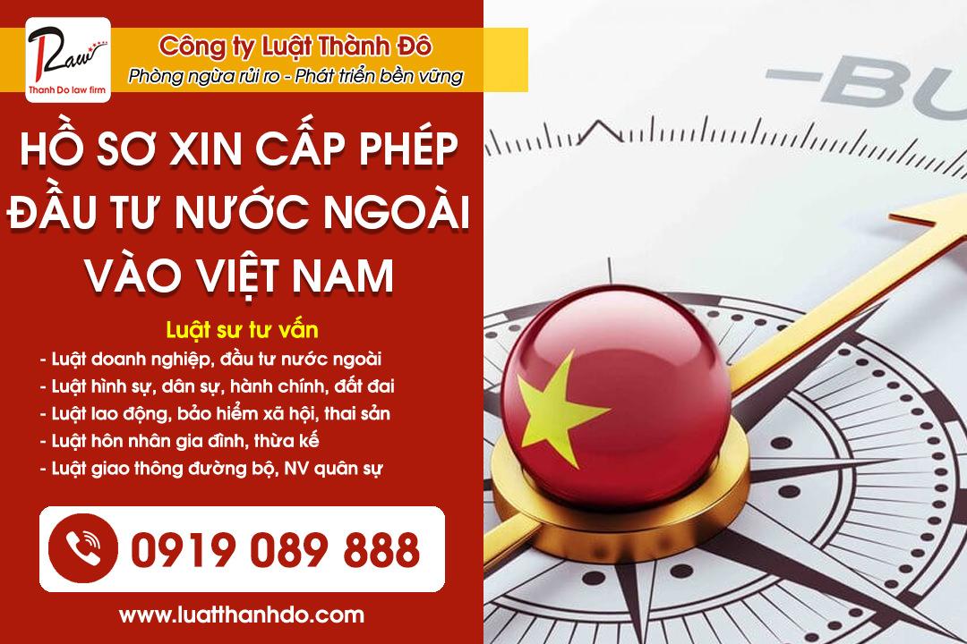 Hồ sơ xin cấp phép đầu tư từ nước ngoài vào Việt Nam