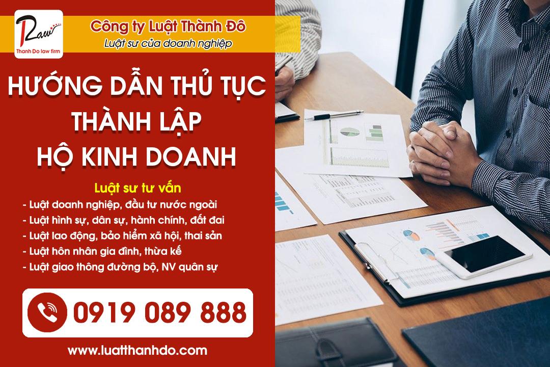 Hướng dẫn thủ tục đăng ký thành lập hộ kinh doanh