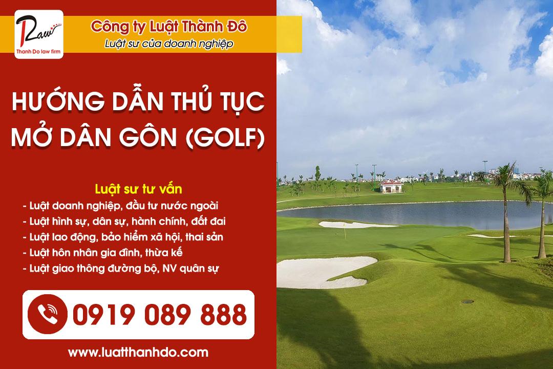 Hướng dẫn thủ tục mở sân Gôn (Golf)