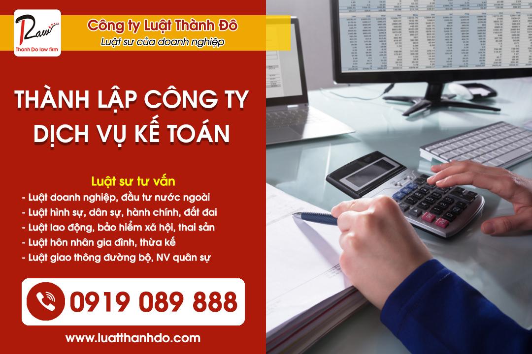 Thành lập công ty dịch vụ kế toán