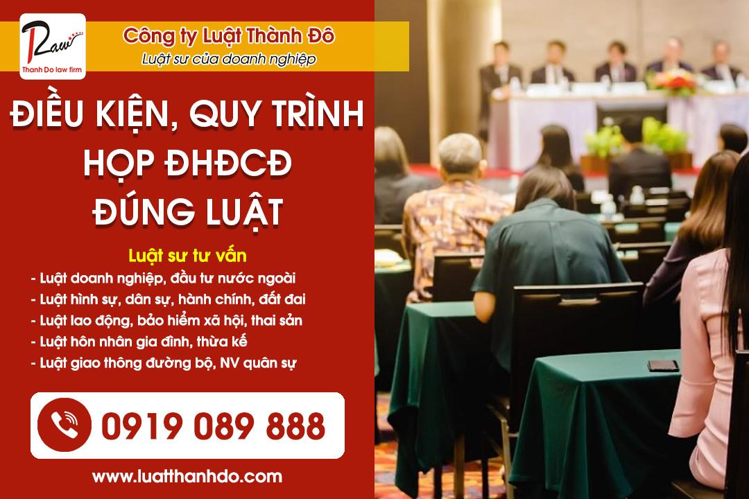 Điều kiện và quy trình họp đại hội đồng cổ đông đúng luật