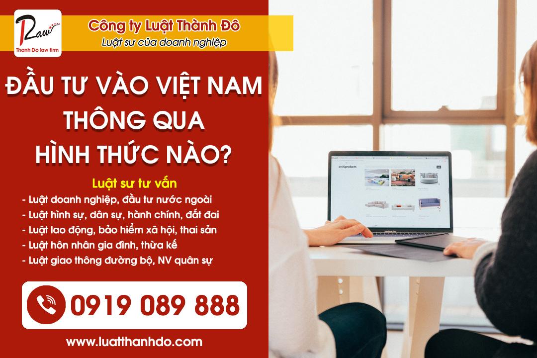 Đầu tư từ nước ngoài vào Việt Nam thông qua hình thức nào?