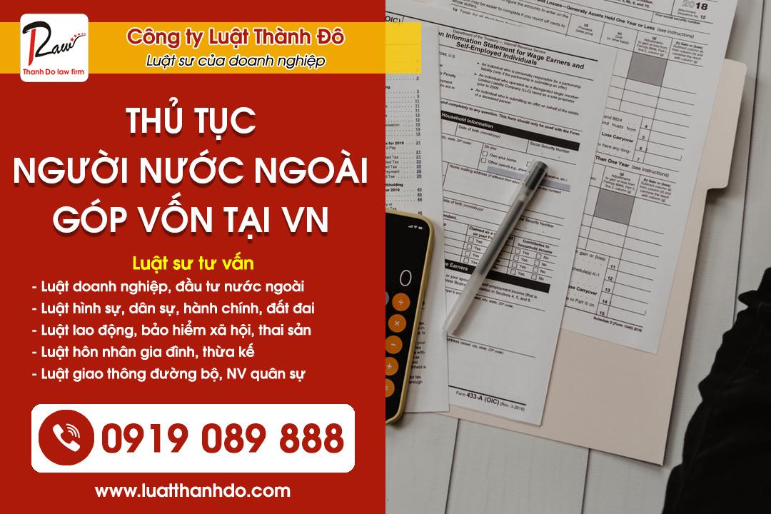Thủ tục người nước ngoài góp vốn tại Việt Nam